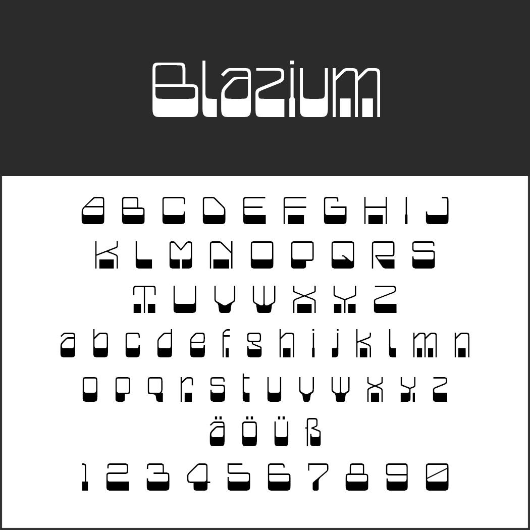 """Retro Font """"Blazium"""""""