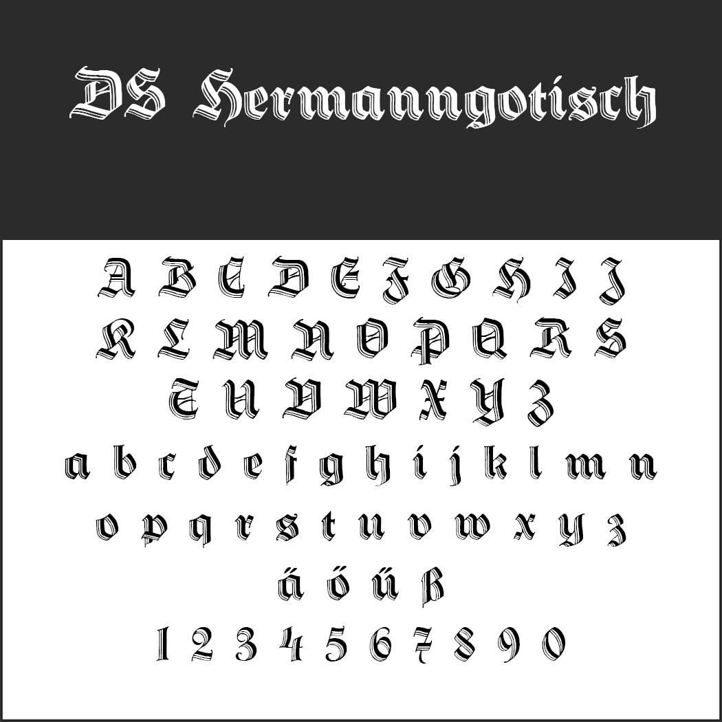 """Schriftart """"DS HermannGotisch"""""""