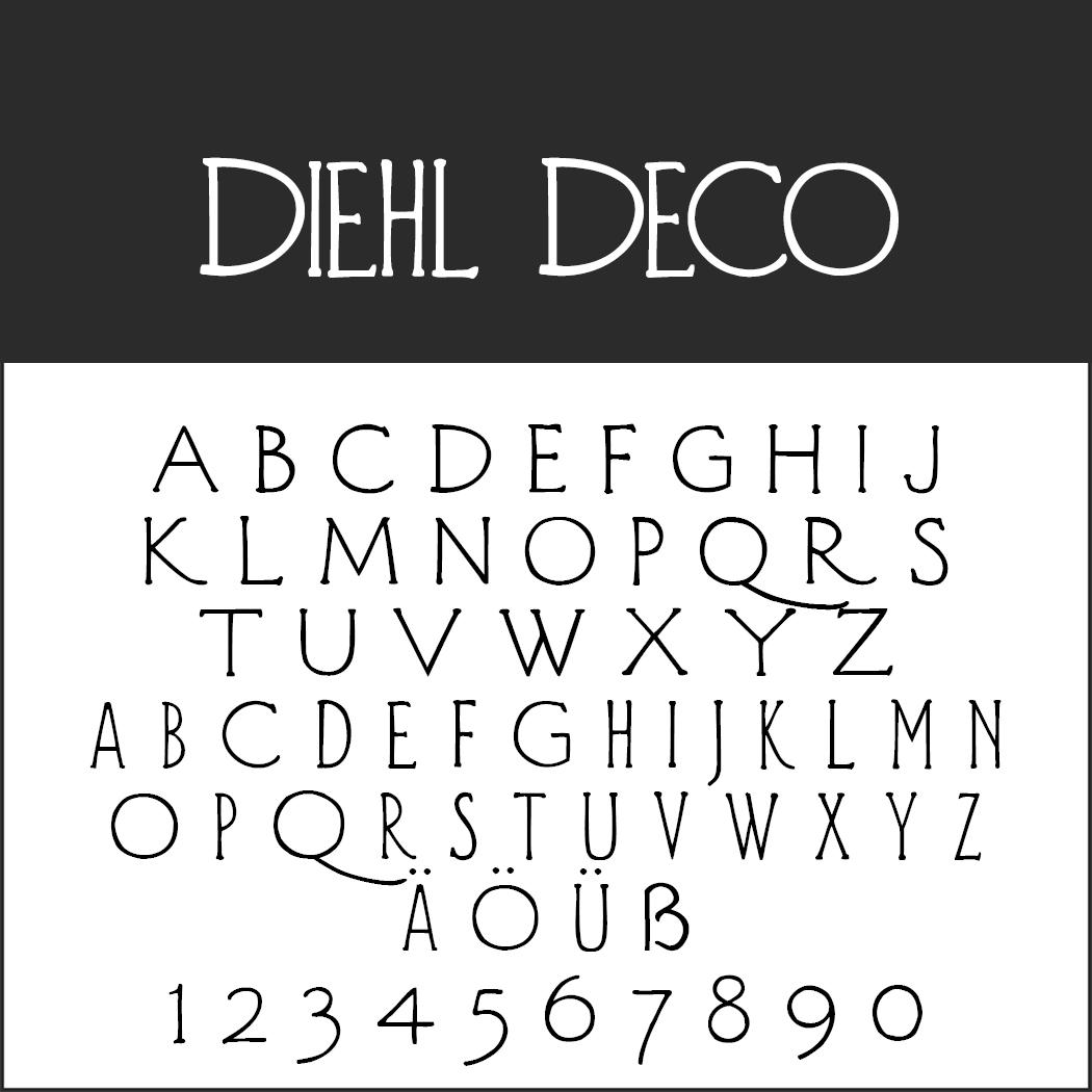 "Vintage Font ""Diehl Deco"""