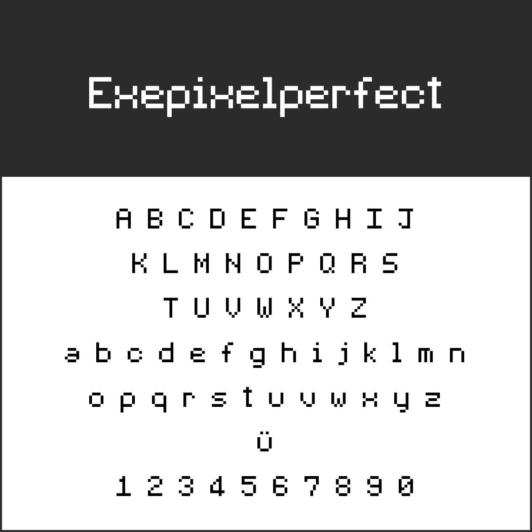 """Retro Font """"Exepixelperfect"""""""