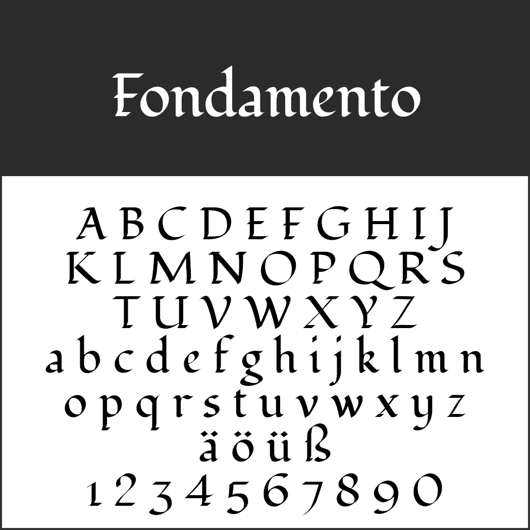 "Elegante Schriftart ""Fondamento"""