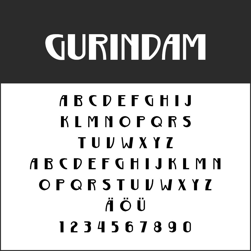 "Moderne Schriftart ""Gurindam"""