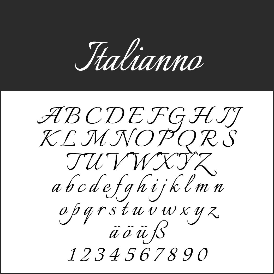 """Schriftart """"Italianno"""""""