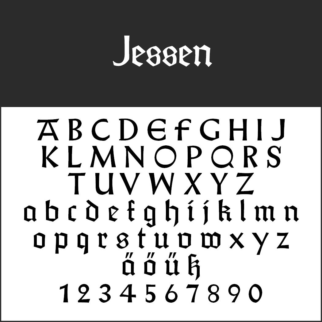 """Gotische Schriftart """"Jessen"""""""