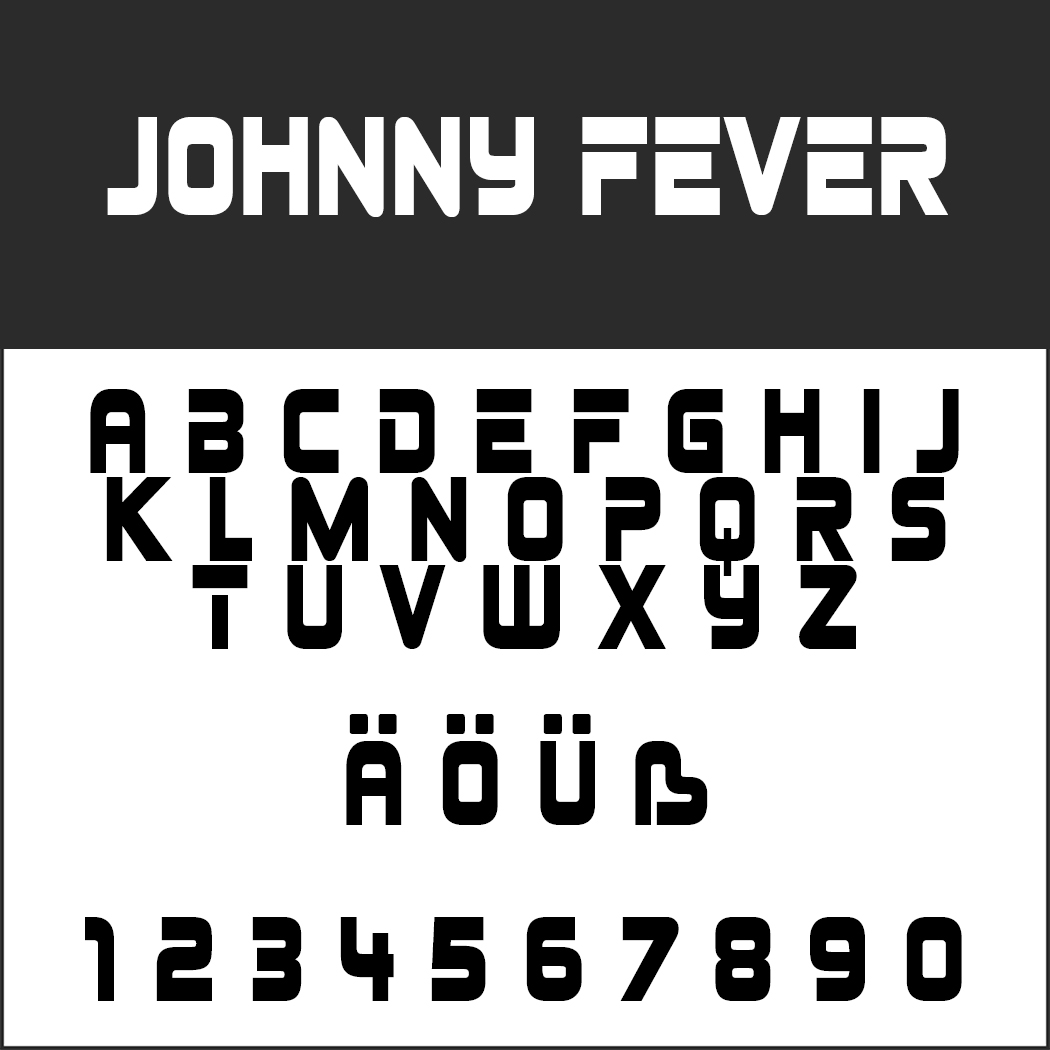 "Vintage Schrift ""Johnny Fever"""