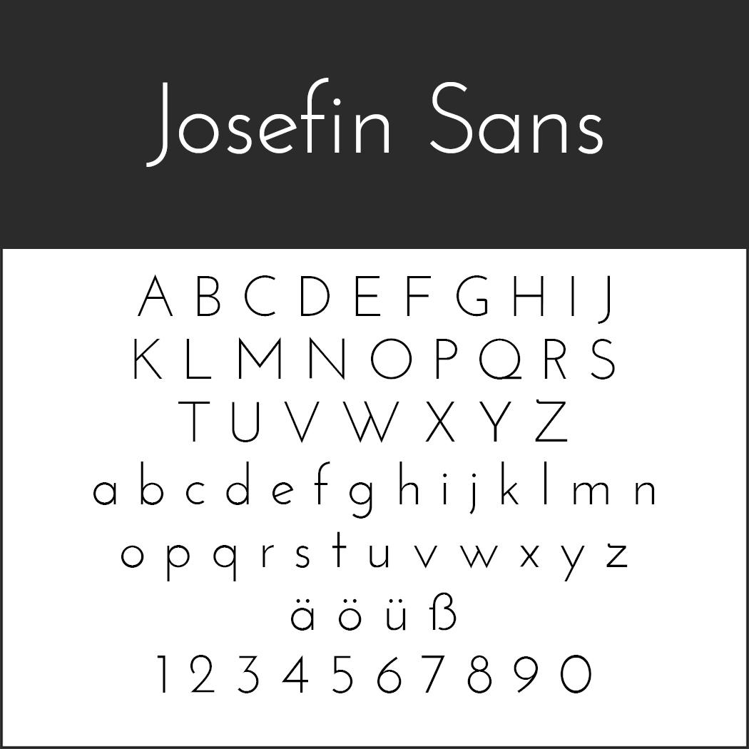 """Schriftart """"Josefin Sans"""""""