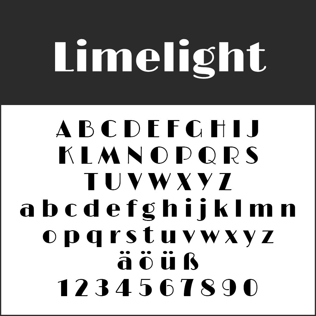 """Vintage Schriftart """"Limelight"""""""
