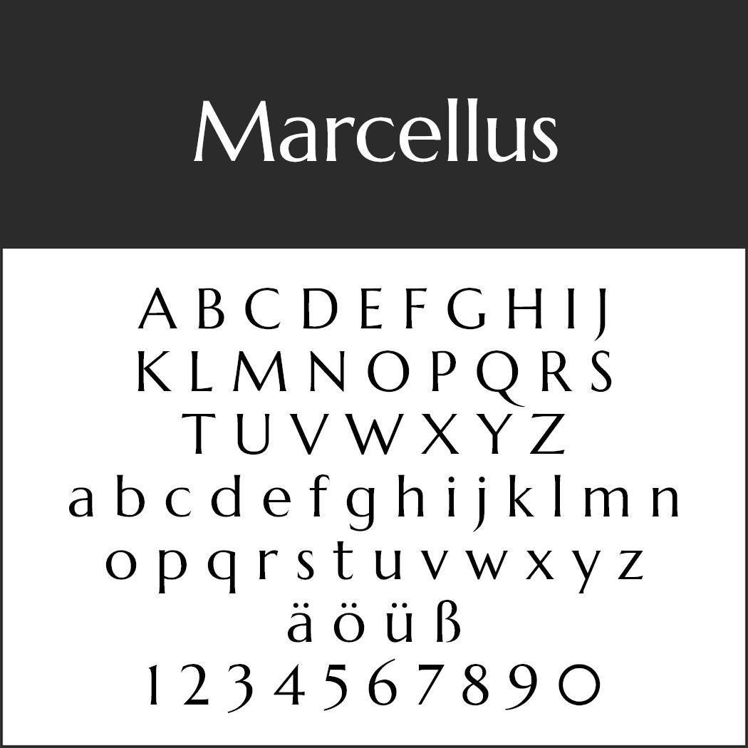 "Moderne Schriftart ""Marcellus"""