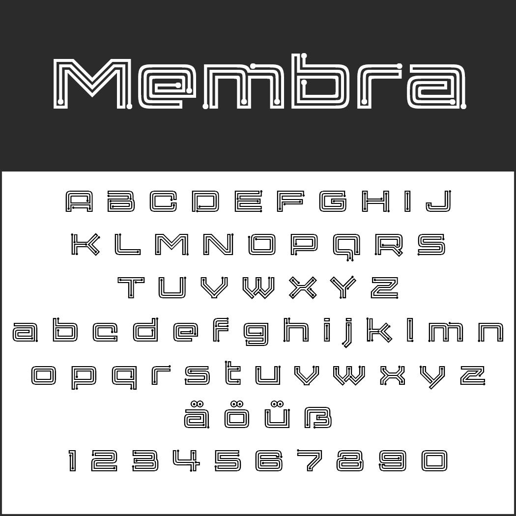 """Vintge Font """"Membra"""""""