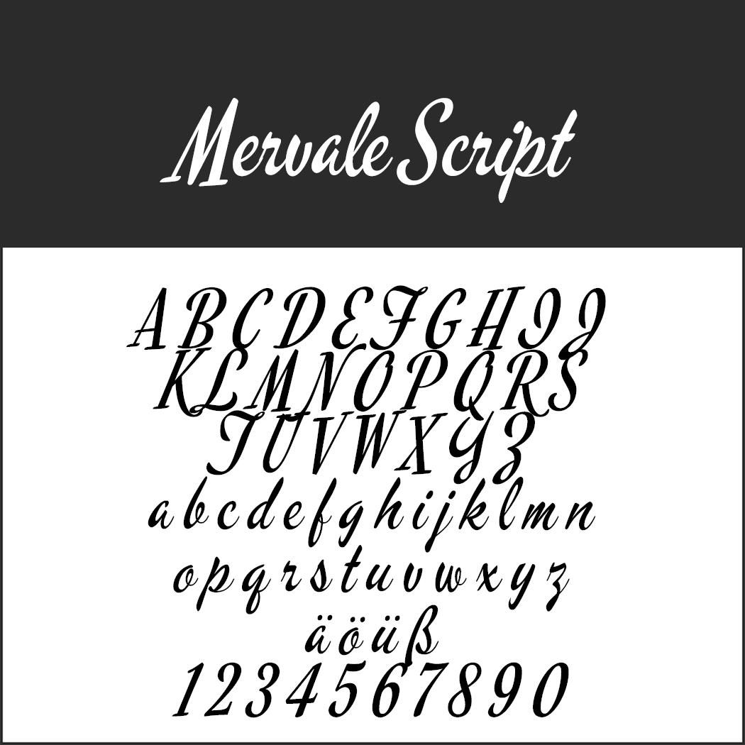 "Vintage Font ""Mervale Script"""
