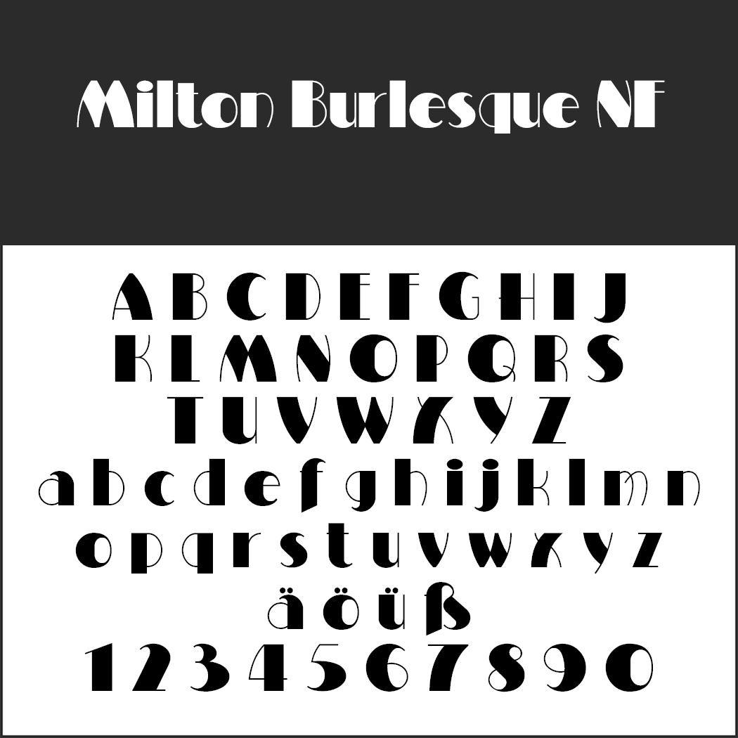 "Retro Font ""Milton Burlesque NF"""