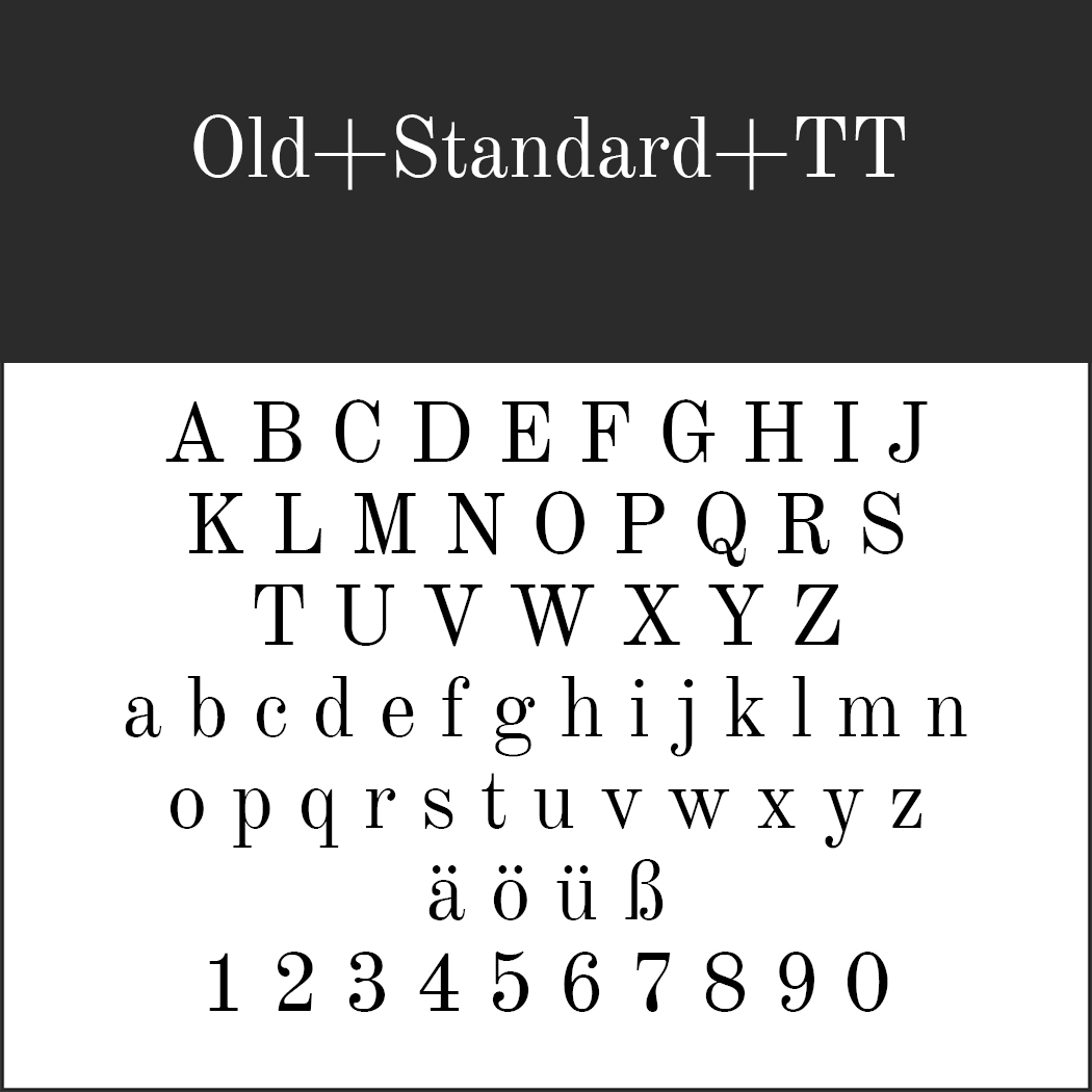 """Jubiläumsschrift """"Old+Standard+TT"""""""