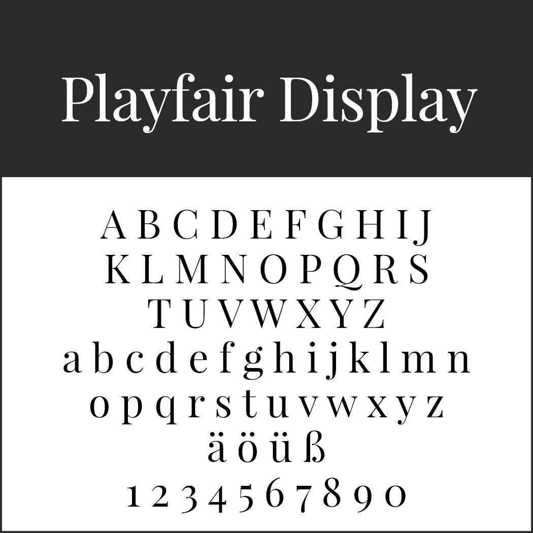 "Serifenschriftart ""Playfair Display"""