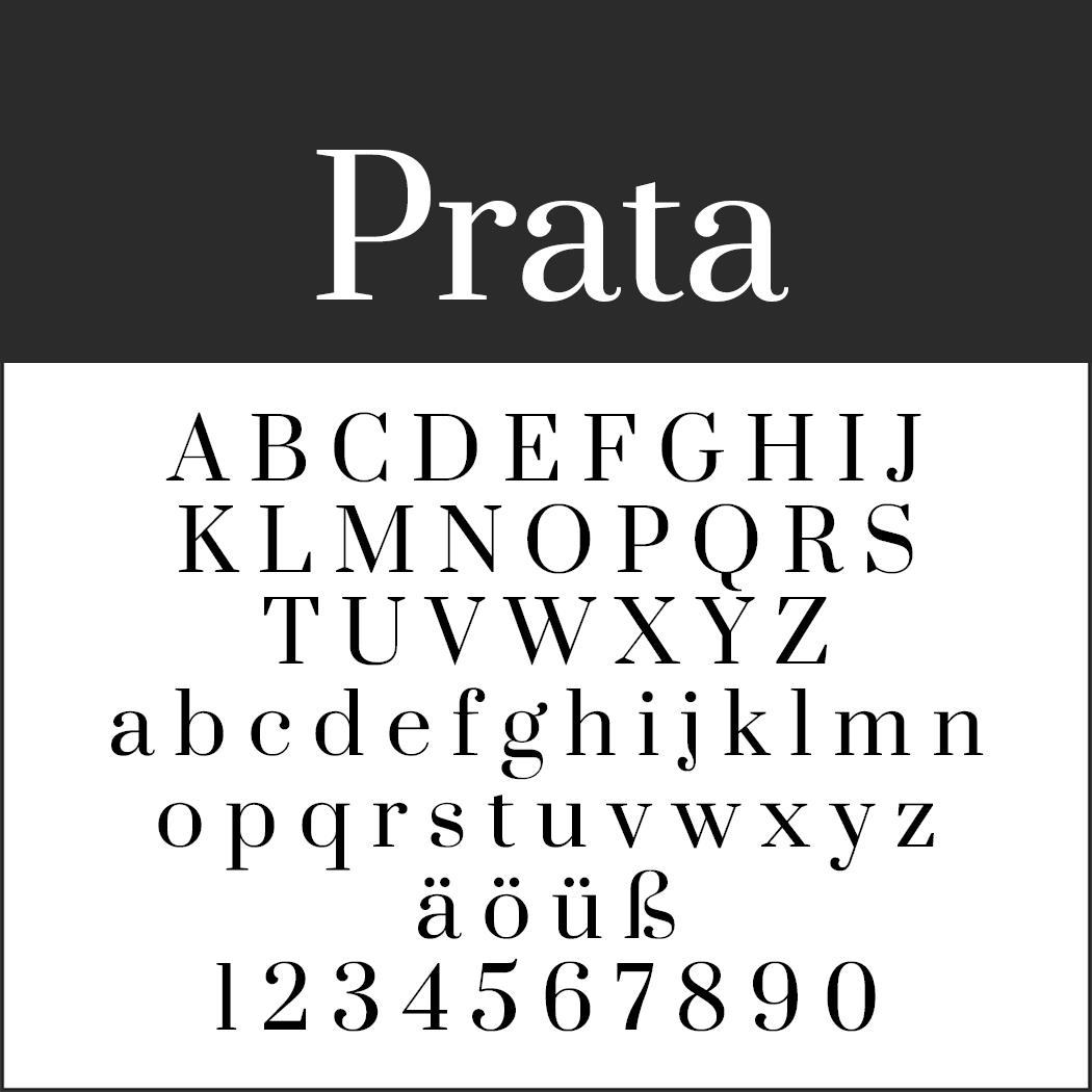 """Elegante Schrift """"Prata"""""""
