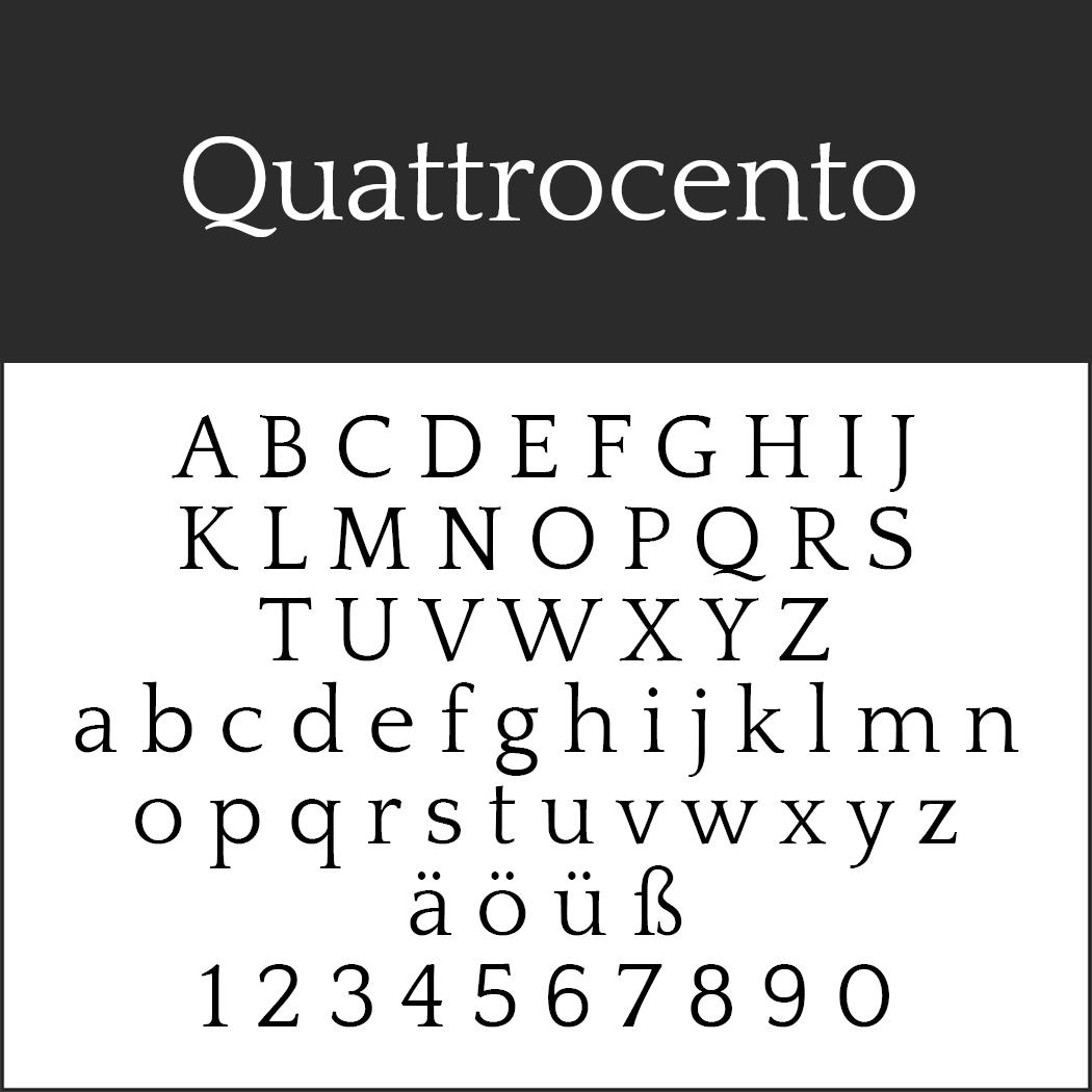 """Elegante Schriftart """"Quattrocento"""""""