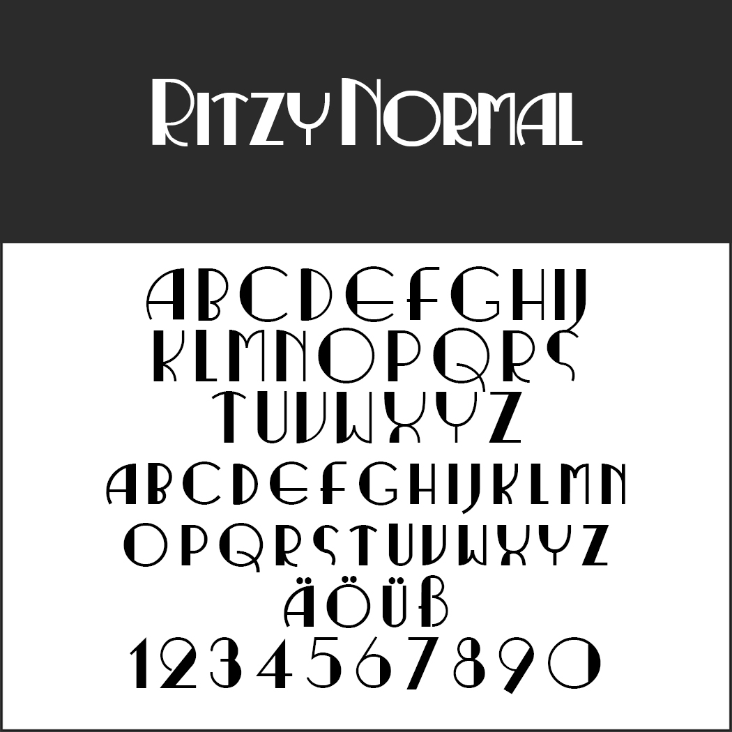 "Retro Font ""Ritzy Normal"""