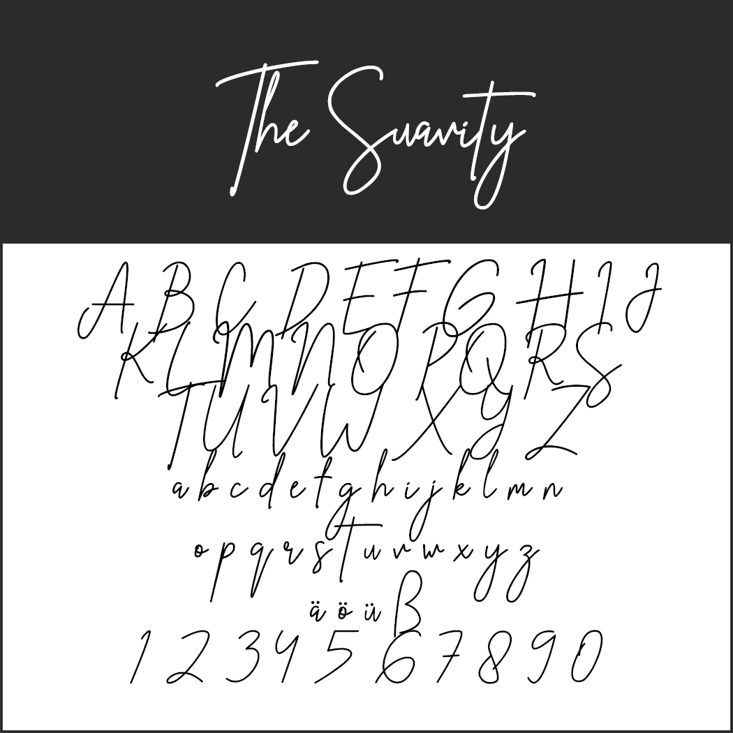 "Handschrift ""The Suavity"""