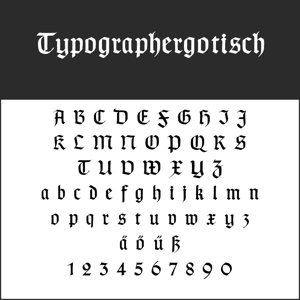 """Gotische Schrift """"Typographer Gotisch"""""""