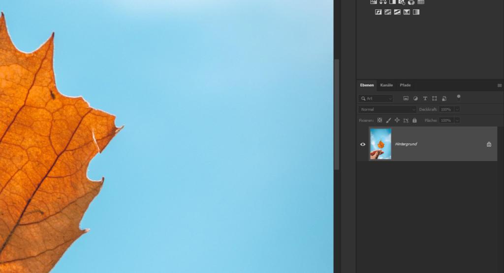 Photoshop Hintergrund transparent - Ebene entsperren