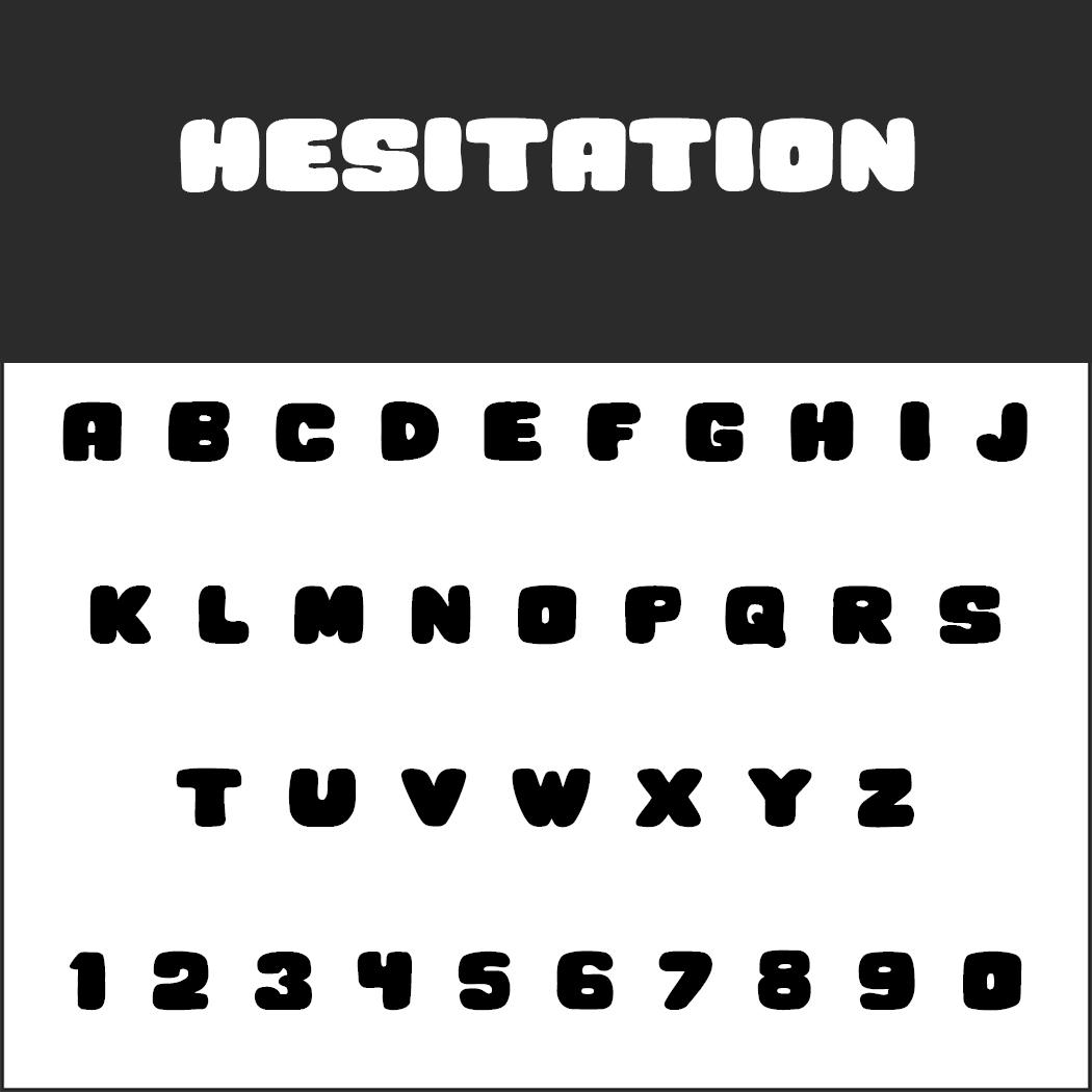 """Schriftart """"Hesitation"""""""