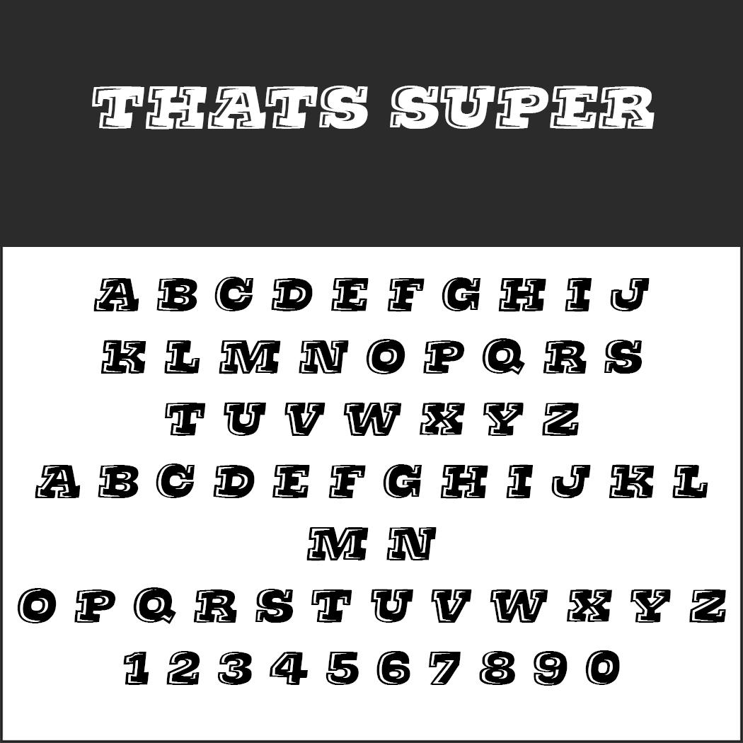 """Graffiti Schrift """"Thats super"""""""