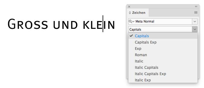 Beispiel Kapitälchen: Meta Normal Capitals