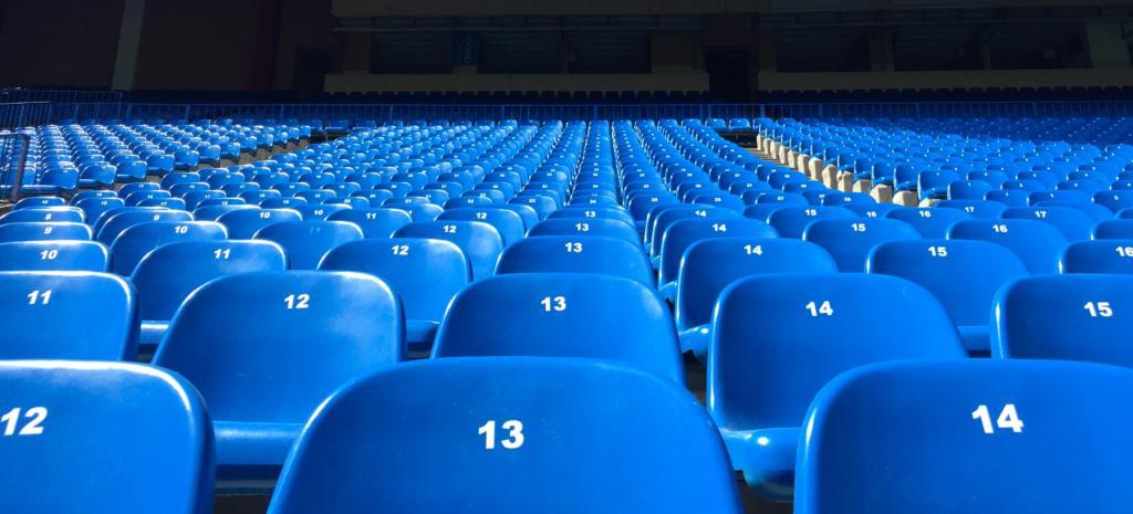 Fußballtribühne