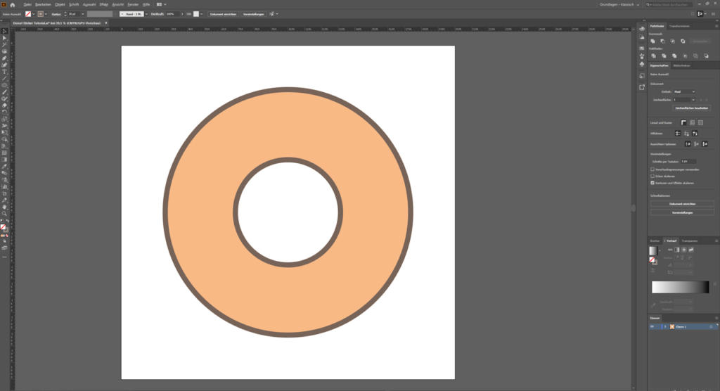 Aufkleber gestalten - Illustrator 3