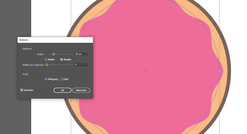 Aufkleber gestalten - Illustrator 4