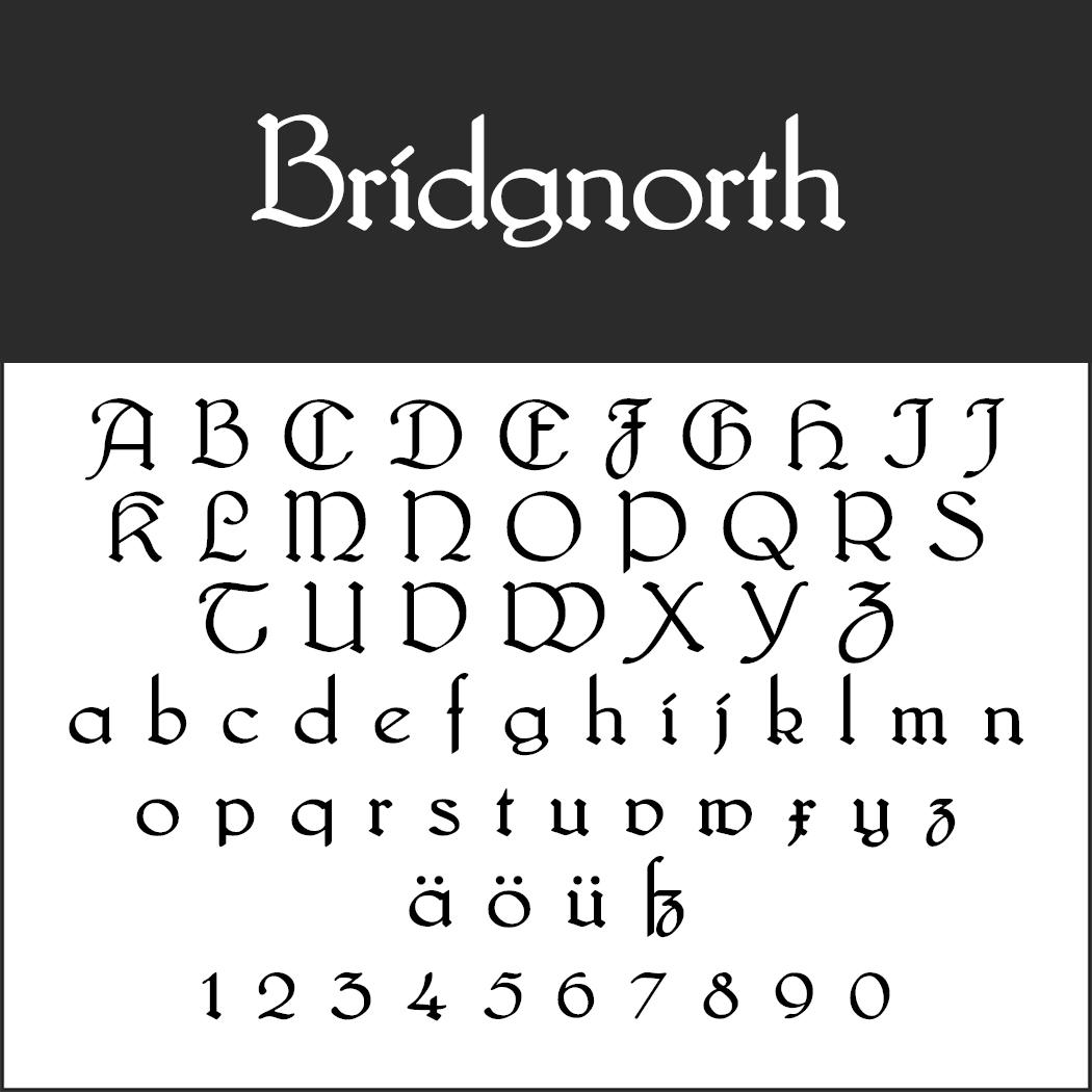 altertümliche Schriftart: Bridgnorth
