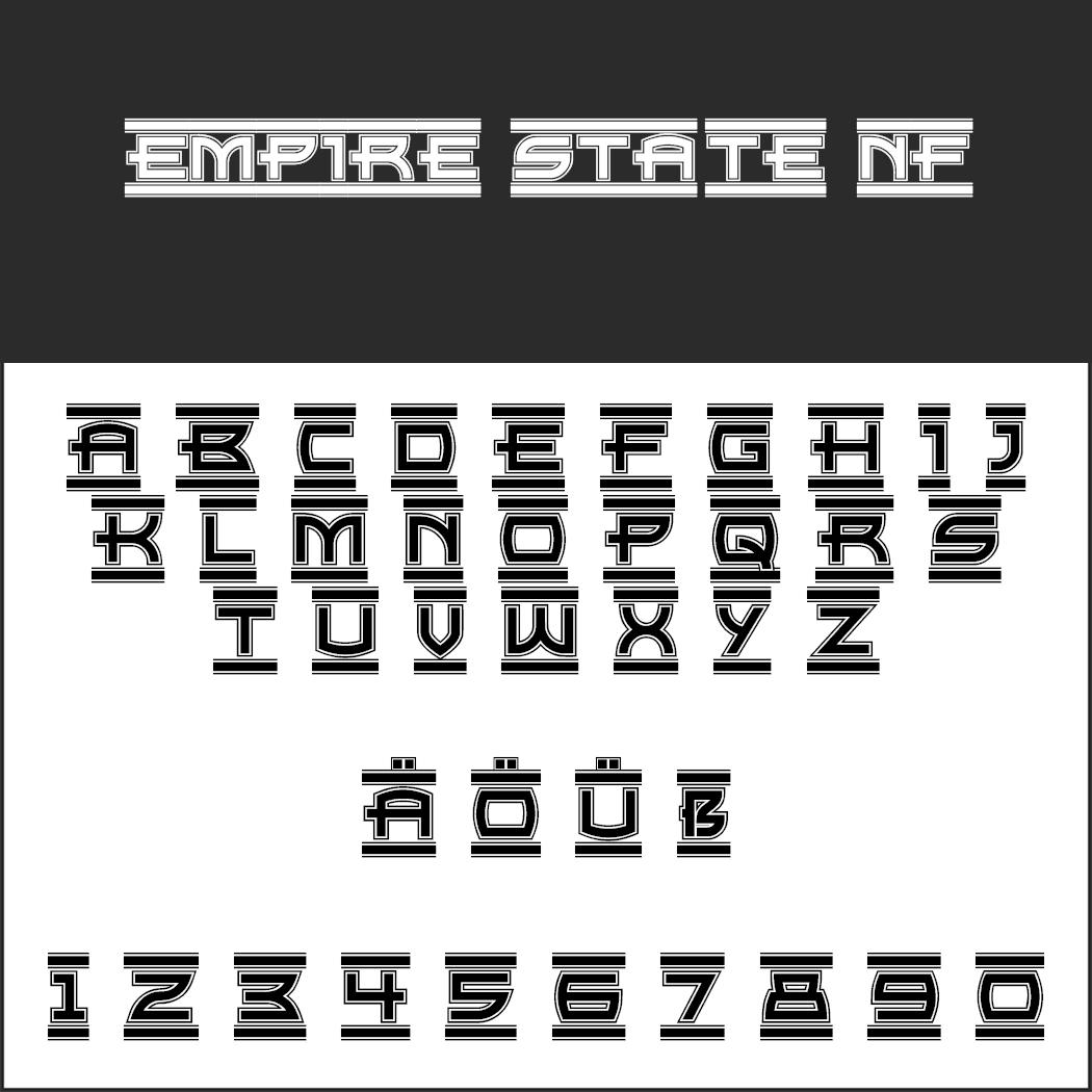 "Stempel Schrift ""Empire State NF"""