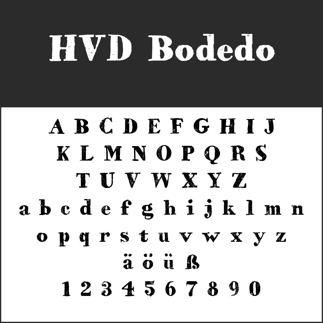 "Schrift ""HVD Bodedo"""