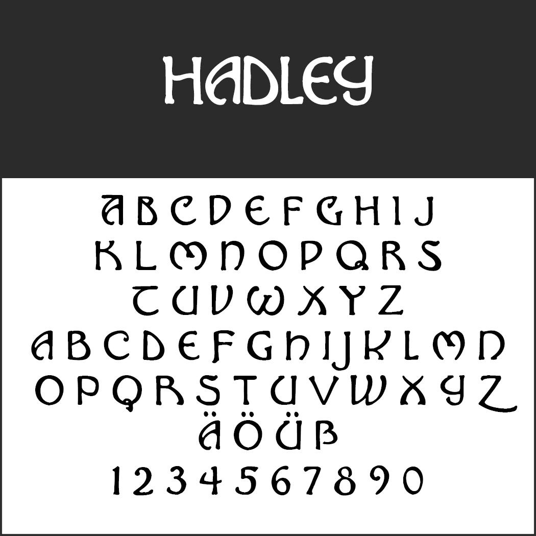 Mittelalter Schrift: Hadley