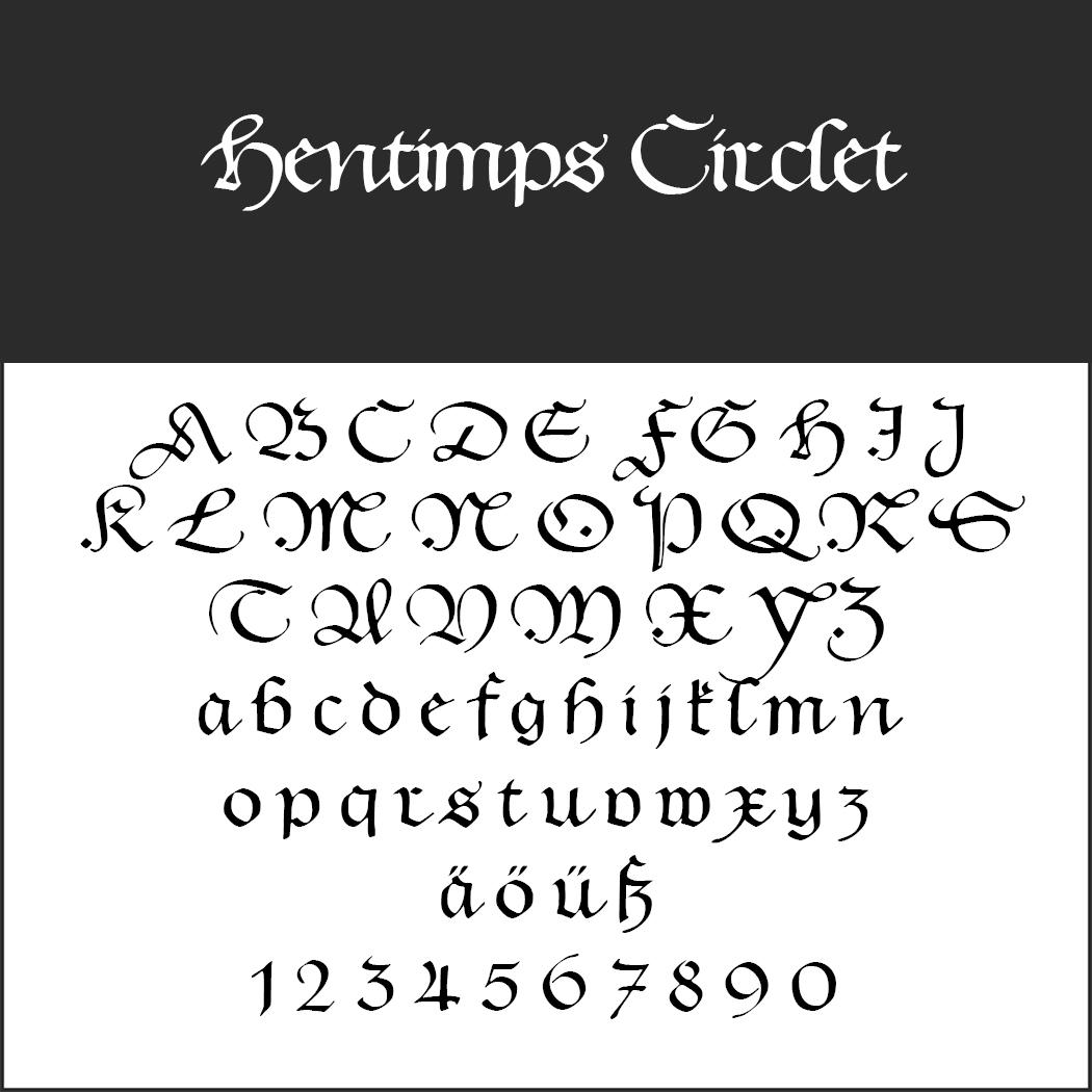 mittelalterliche Schrift: Hentimps Circlet