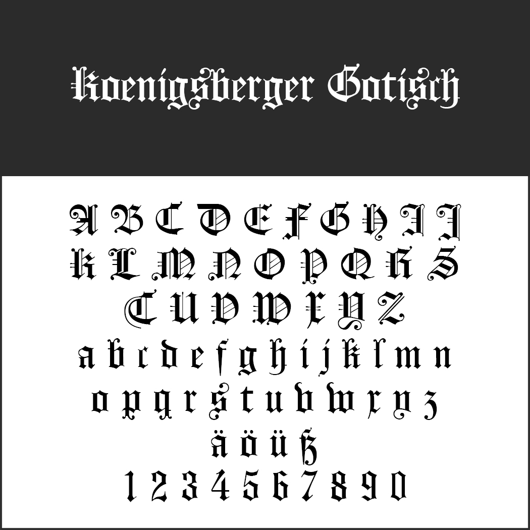 Mittelalter Schrift: Koenigsberger Gotisch