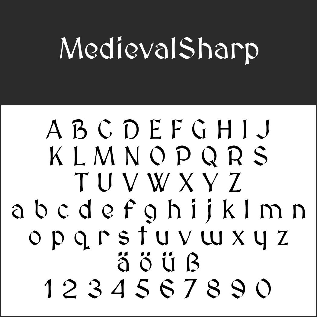 Mittelalter Schrift: MedievalSharp