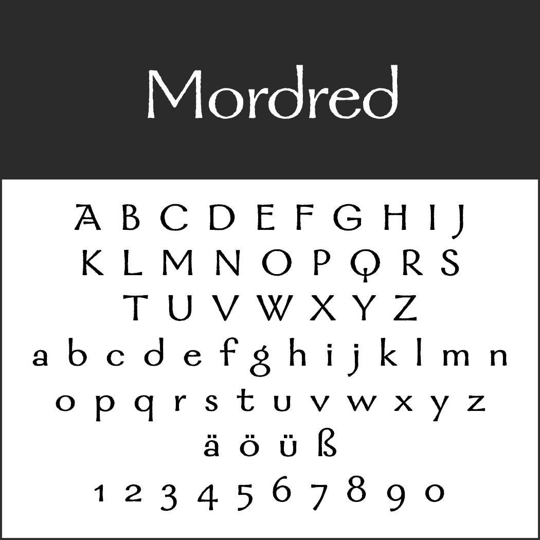 Mittelalter Schrift: Mordred
