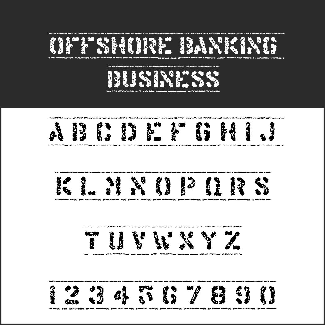 "Schrift ""OFFSHORE BANKING BUSINESS"""
