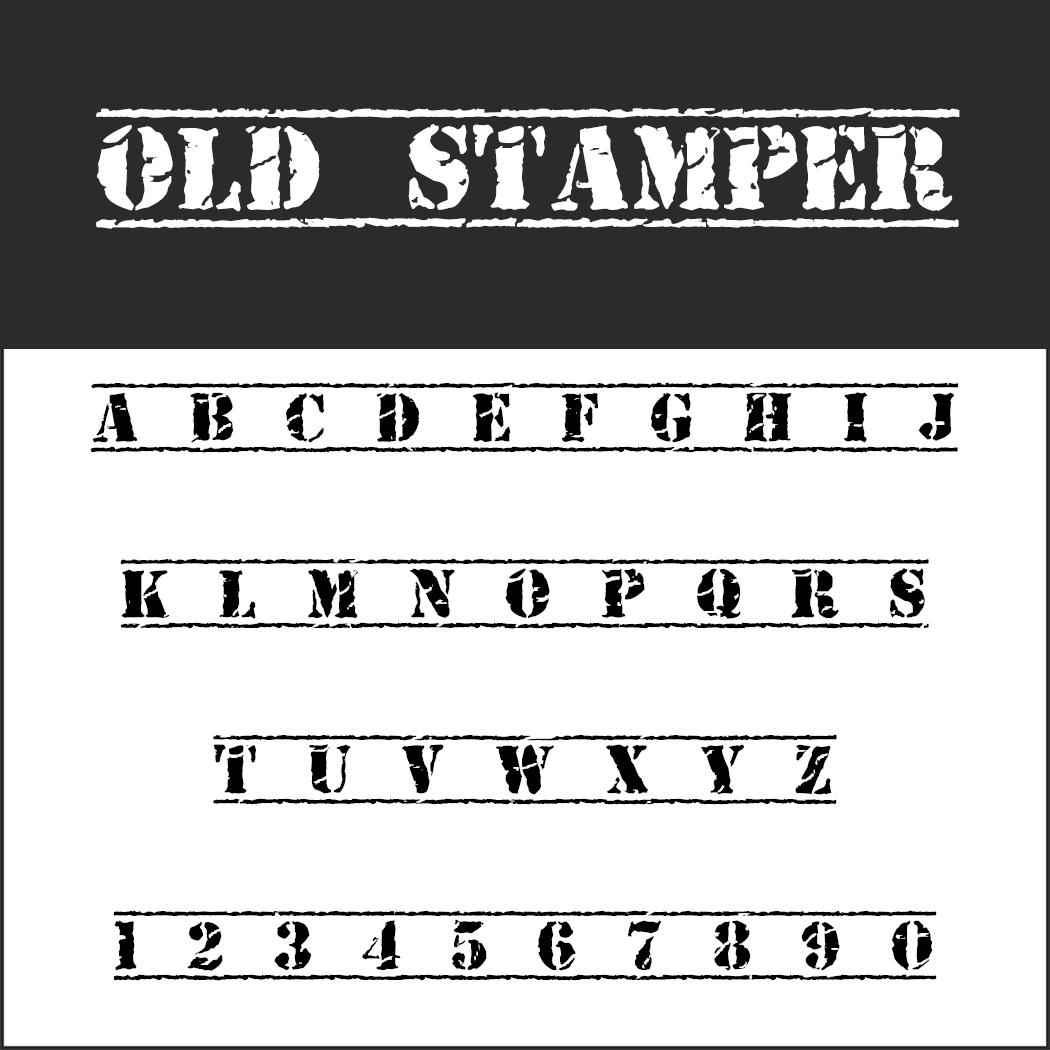 """Stempel Schrift """"OLD STAMPER"""""""