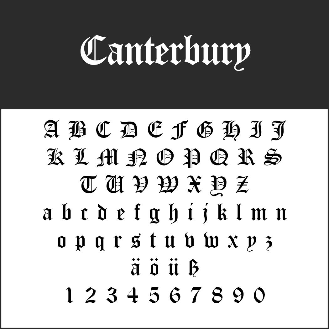 Frakturschrift: Canterbury