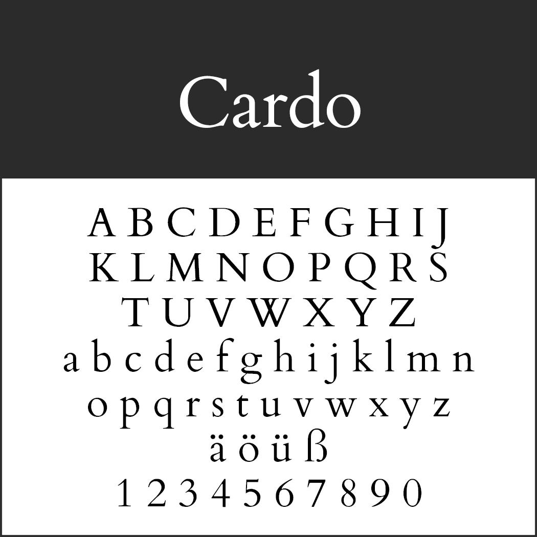 Antike Schrift: Cardo