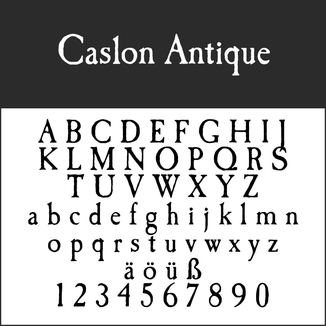 Antike Schrift: Caslon Antique
