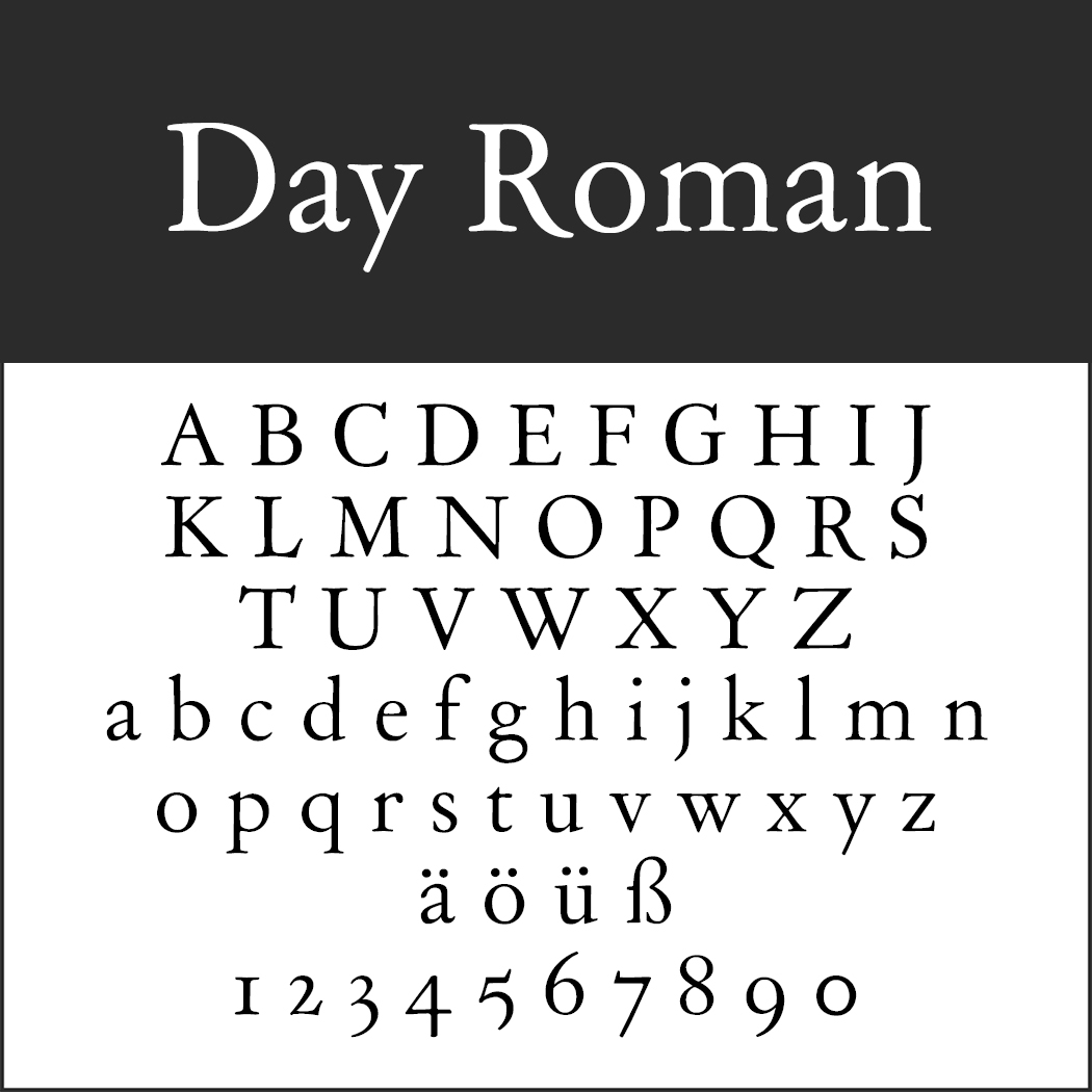 Antike Schrift: Day Roman