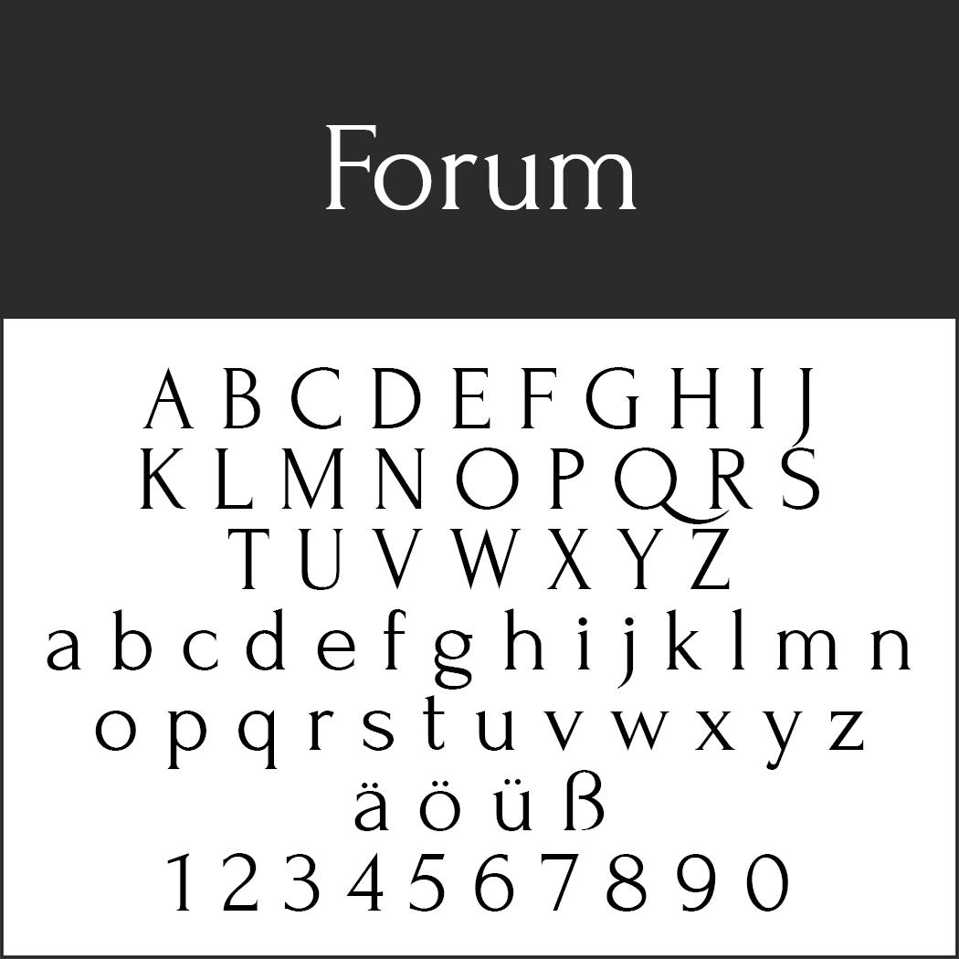 Antike Schrift: Forum