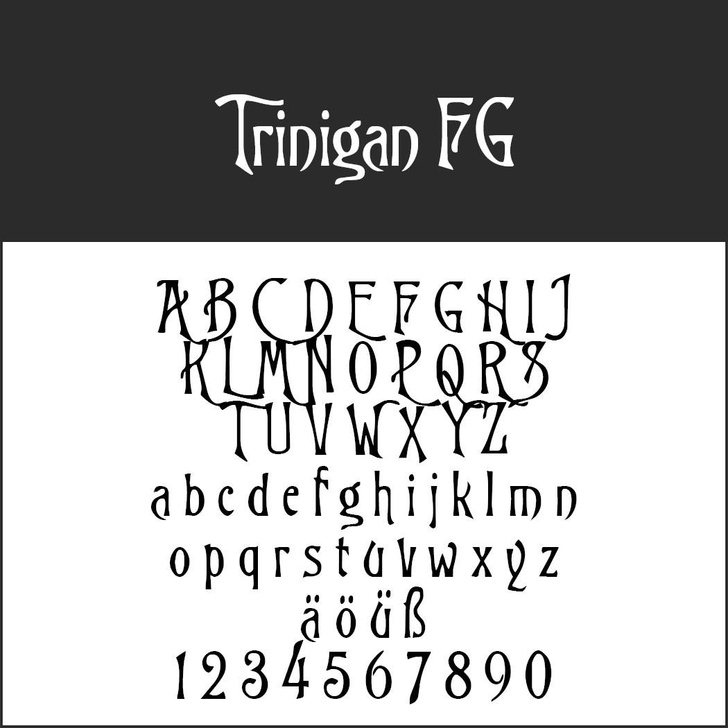 Antike Schrift: Trinigan FG