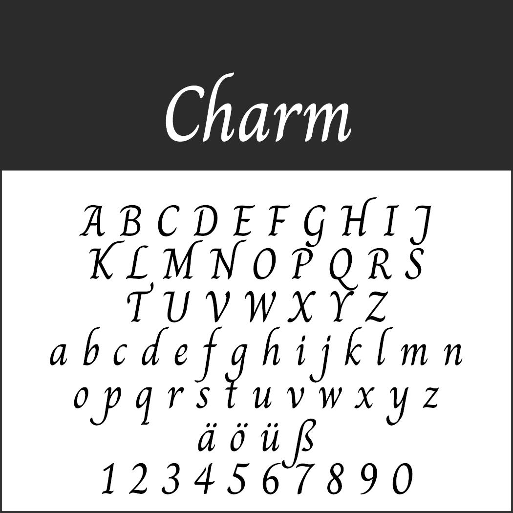 """Schöne Handschriftart """"Charm"""""""