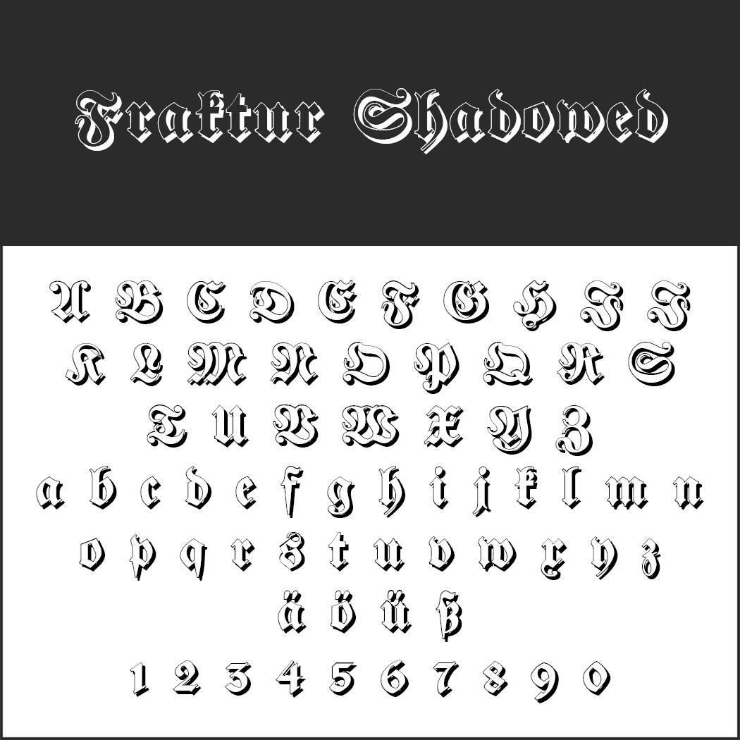 Retro-Fonts: Fraktur Shadowed
