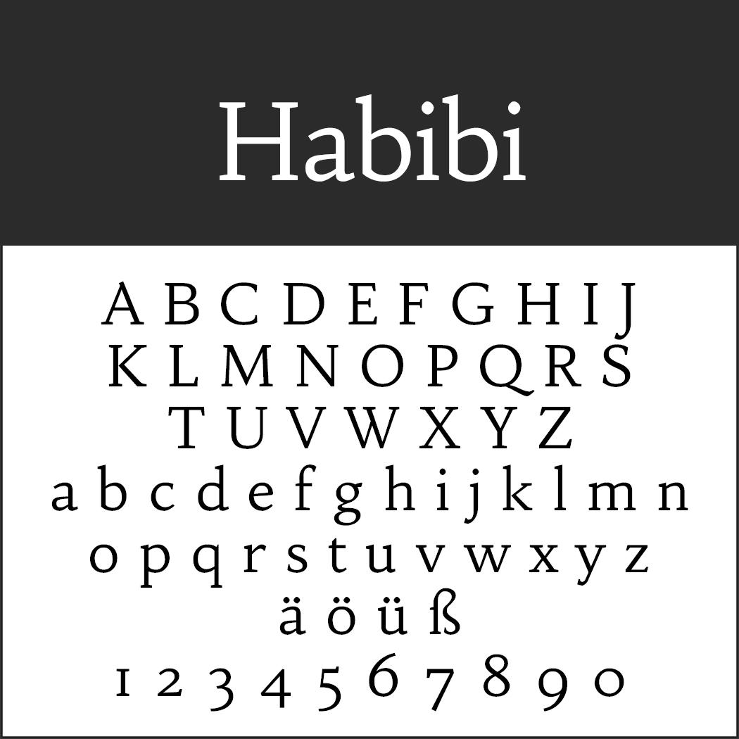 """Schöne Serifenschriftart """"Habibi"""""""
