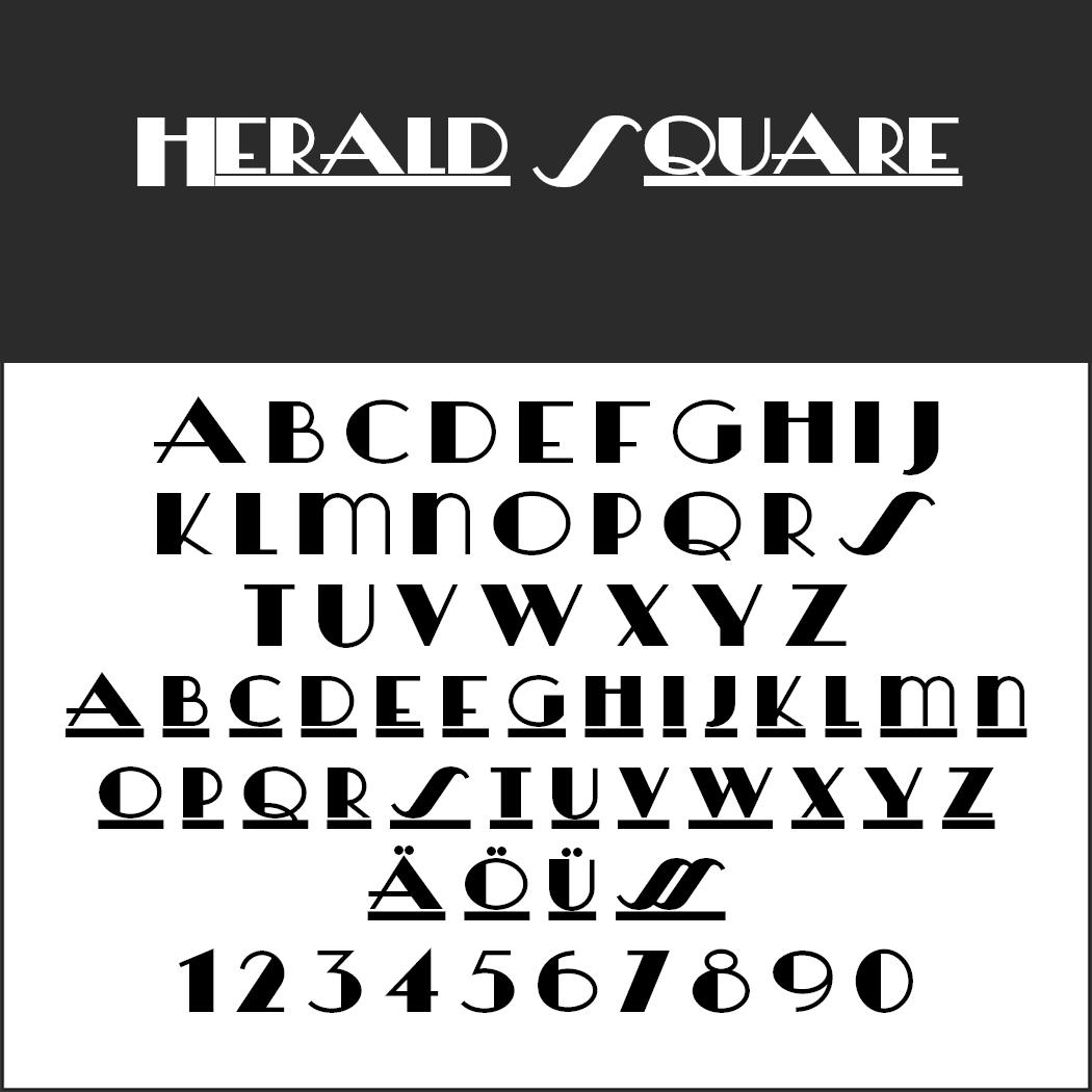 Retro-Fonts: Herald Square