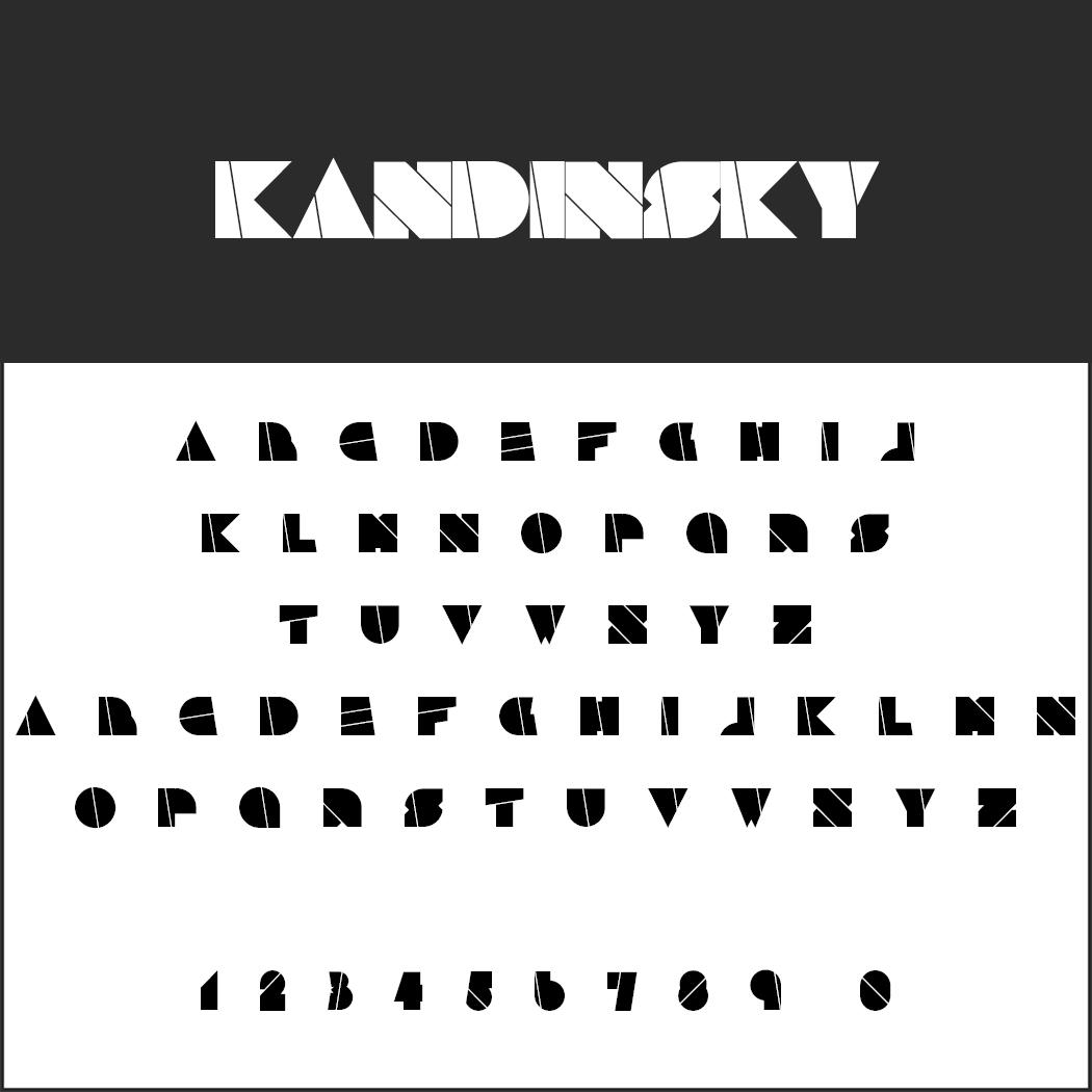 Künstlerische Schrift: Kandinsky